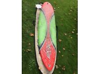 "MC Coy Astron Zot surfboard 7' 1"" including bag and fin. Excellent Condition. Lightly used"