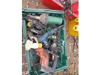 2x leister guns both working no nozzles 1 blowing cold i not working hilti drill working