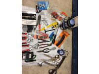 Joblot of different tools and equipment
