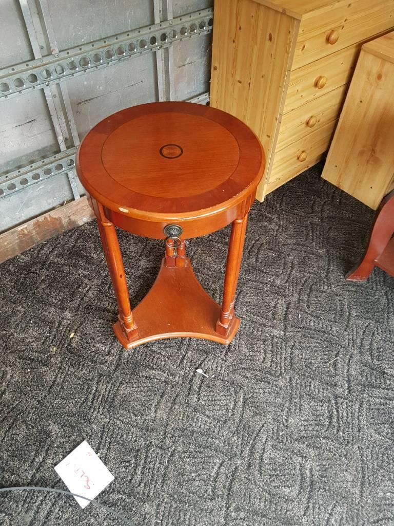 Polished wood hall stand / plant stand