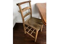Vintage Church Chair And Hooped Chair