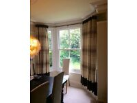 Silk lined curtains from John Lewis