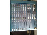 Various equipment for sale as job lot including desk, speakers, lights etc