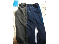 3 pairs of adidas tracky bottoms size small mens