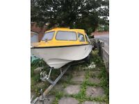 17ft MICRO PLUS EXPLORER BOAT WITH 25HP TOHATSU OUTBOARD & TRAILER