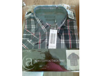 Check mans shirt, new, size large
