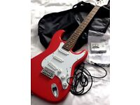 ZENNOX Electric, GUITAR,AMP,EXTRAS Immaculate, Candy Red