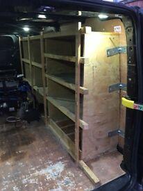 Ford transit custom rear shelving