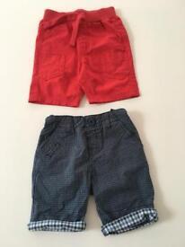 2 pairs of virtually new kids shorts aged 2-3