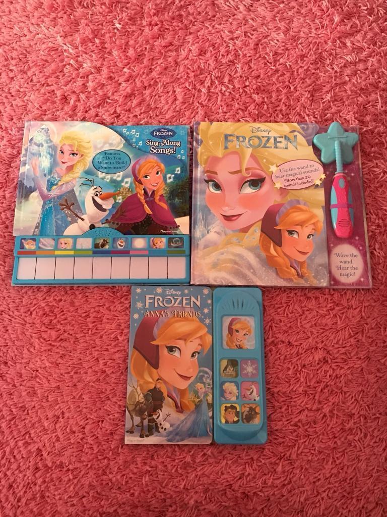 3 x brand new musical Frozen books