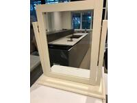 John Lewis cream wooden dressing table mirror