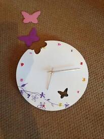 Butterfly wall clock £10