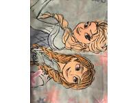Never used Elsa and Anna single bed set