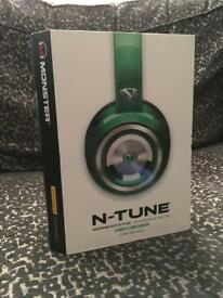 Monster N-TUNE Noise Isolating On-Ear Headphones In Candy Lime Green