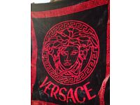 Versace Blanket for Double Bed Black / Red