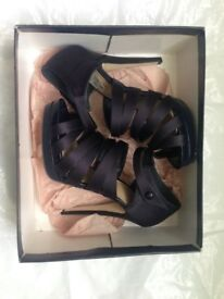 Carvela Kurt Geiger Dark Blue Satin Shoes