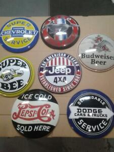 CLASSIC GAS OIL AND SODA SIGNS