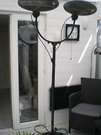 double headed electric patio heater