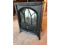 Electric fire place heater - glowing