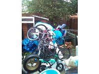 10 Bicycles Job Lot Clearance Car Boot Sales, Wheels, Tyres