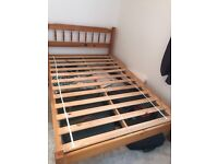 Double bed - mattress and frame for sale
