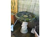 Garden concrete bird bath large..