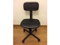 Black and White Plastic Office Chairs