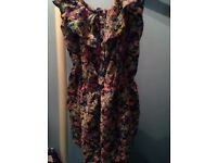 Candy couture floral play suit