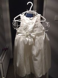 Beautiful white dress for christening, flower girls, or wedding