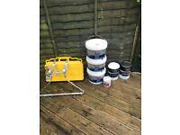 Ladder m8rix, ladder stand off, dulux paint , wood filler