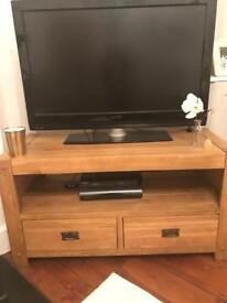 Oak furniture land solid oak tv cabinet