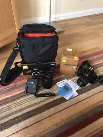 NEW Nikon D3400 Reflex 18-55 KIT + 55-200 + Accessories