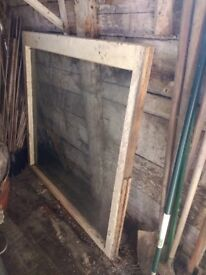 "FREE very large single window, might suit a cold frame or shed. 45"" x 46.5"""