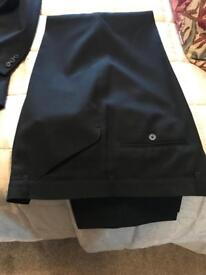 Jacket and trousers in black