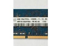 hynix laptop memory 4 GB PC3