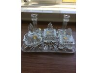 Lead Crystal Dressing Table Set