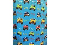 Trucks cars and tractor single duvet cover