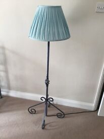 Wrought iron standard lamp stand