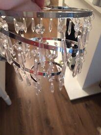 X2 chrome and diamanté droplet ceiling pendant