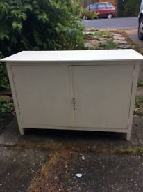 White painted cabinet/ sideboard