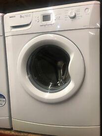 8KG WHITE BEKO WASHING MACHINE