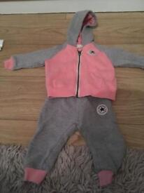 Baby girl converse tracksuit age 12 months