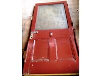 Old Victorian External Glazed Door with Double Glass Window
