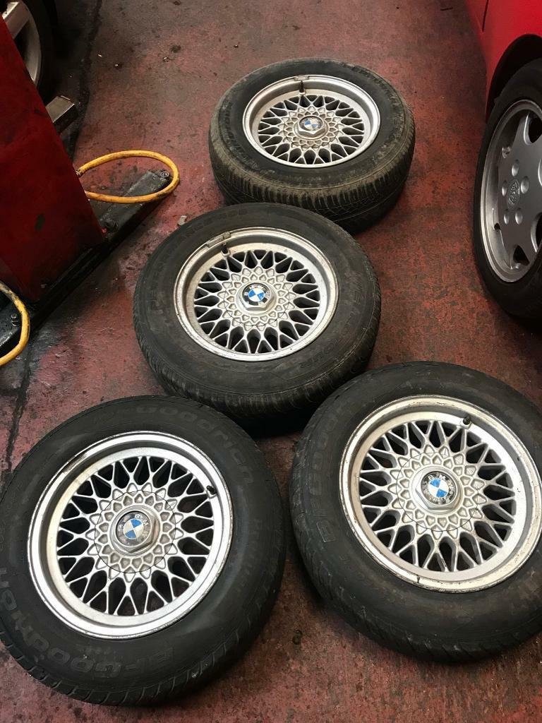 Bmw E34 BBS Wheels And Tyres With Centres Complete E28 5x120