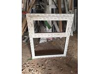 Various new and used white UPVC Windows glazed and unglazed as details and photos