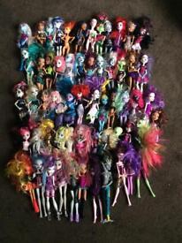 Monster high dolls / cars / school/ toys