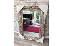 Stunning Large silver Ornate mirror