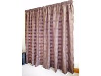 John Lewis fully lined pencil pleat dark brown curtains