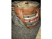 Babymel cara changing bag navy stripe
