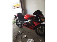 Aprilia rs 125cc motorbike